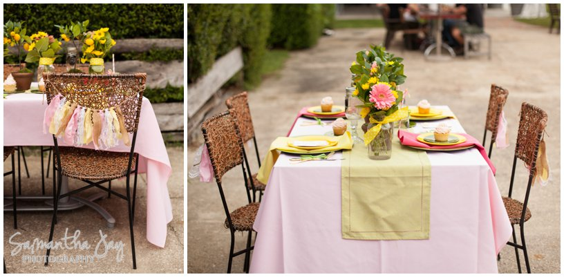 We started the day with a lesson in shooting the table scape at a wedding.