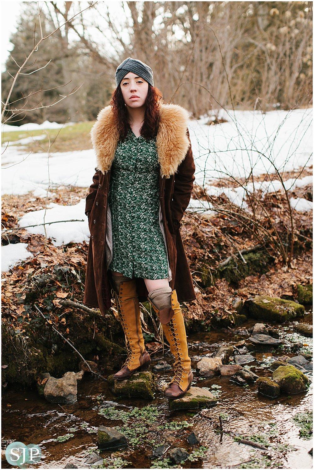 Kristen at Tyler Arboretum Media PA Portrait Photographer