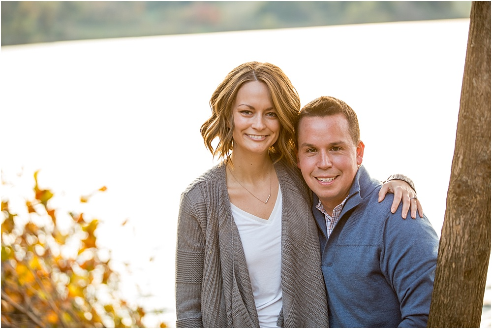 Jaclyn + Robert // Rustic Fall Engagement Session at Marsh Creek State Park