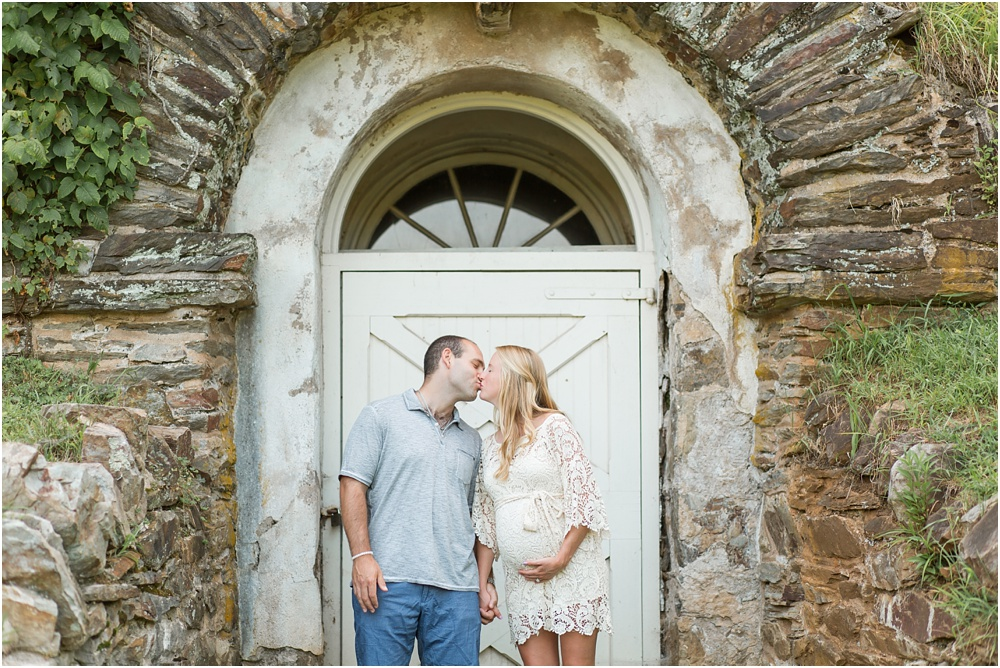 Valley Forge Maternity Photography | Rustic Sunset Maternity Session | Laura and Brandon