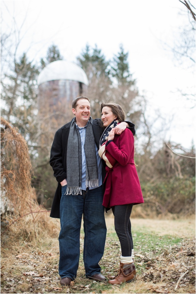 Late Fall Holiday Engagement Session | Glen Mills PA Wedding Photographer | Amy and Ted