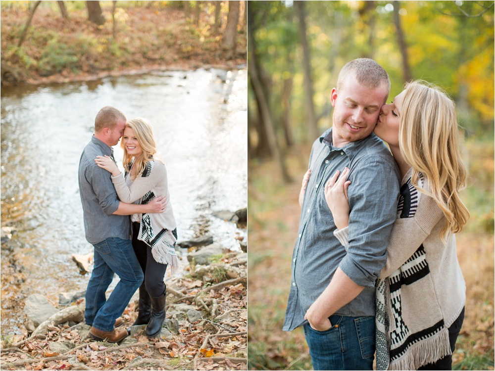 Dreamy Fall Golden Hour Engagement | Valley Forge National Park Engagement Photographer | Laura and Chris