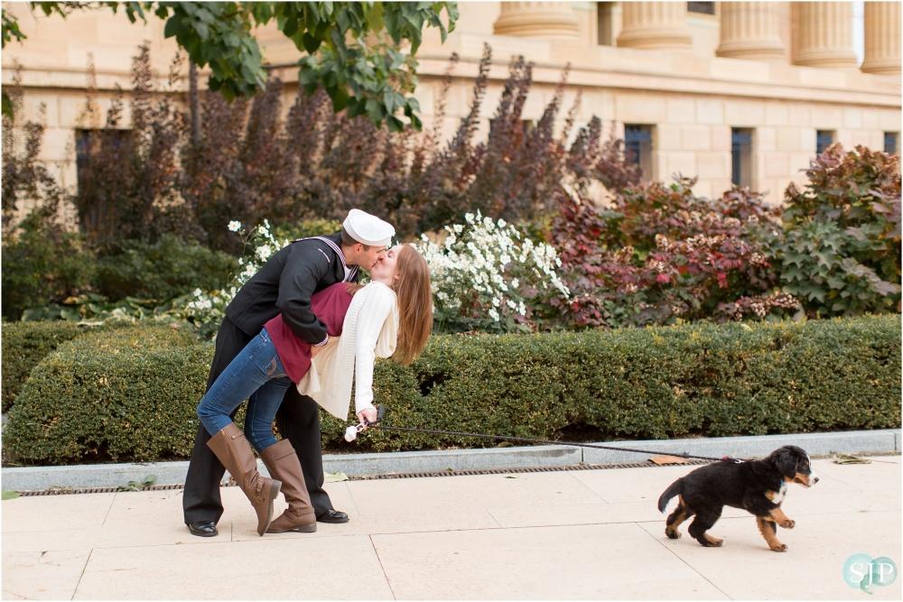 Veteran's Day Anniversary Session | Philadelphia Museum of Art | Stanley, Julie and Odin
