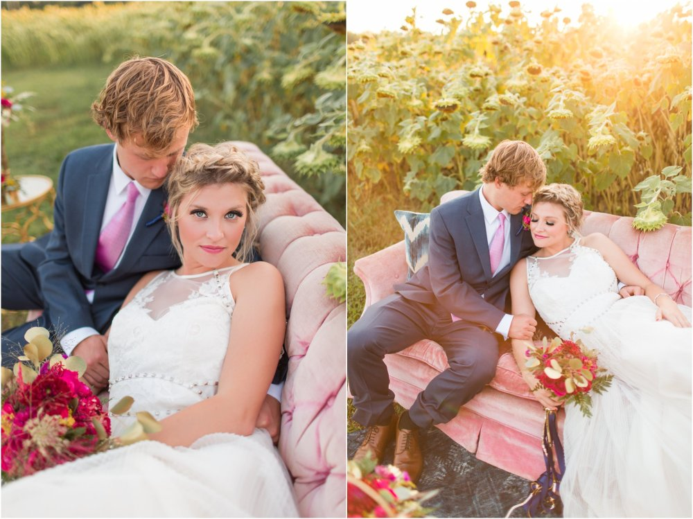 Featured on The Perfect Palette | Romantic Raspberry and Gold Farm Wedding Inspiration