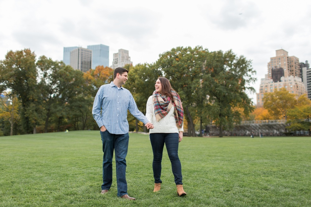 Cozy Central Park Engagement Session   NYC Wedding Photographer   Katie and Jon