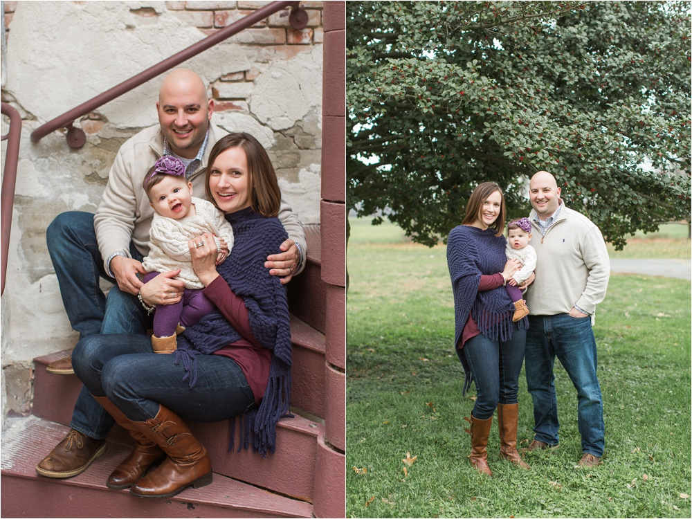 Cozy Holiday Family Portrait Photography | Historic Smithville Park | The D Family