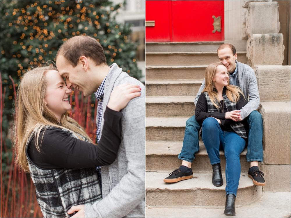Christmas-time Rittenhouse Square Engagement Session   Philadelphia Engagement Photographer  Jillian and Nick