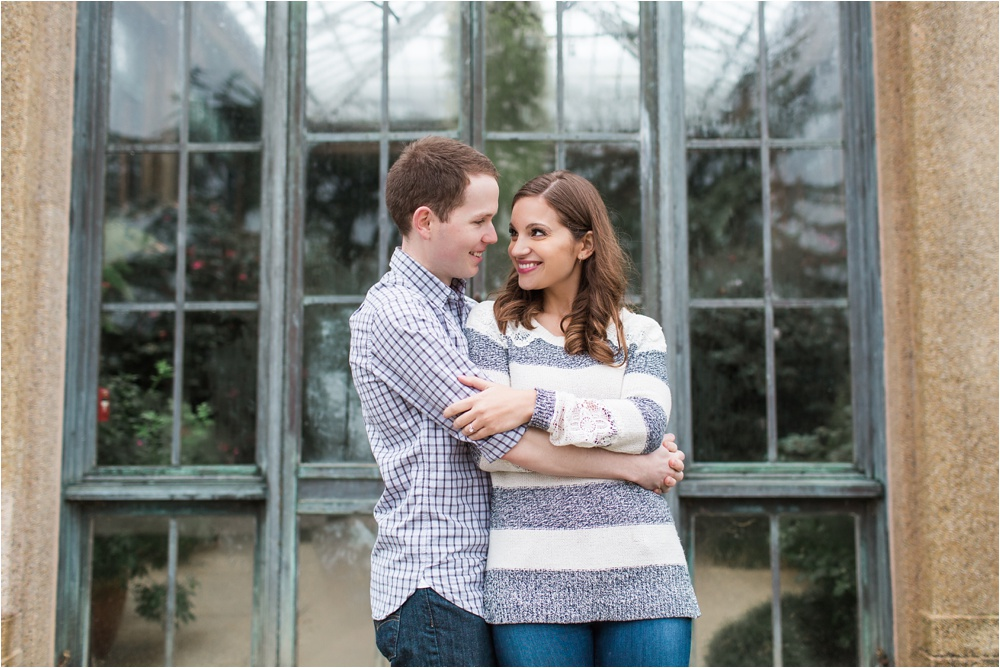 Longwood Gardens Holiday Engagement Session | Chadds Ford Engagement Photographer | Lauren and Liam