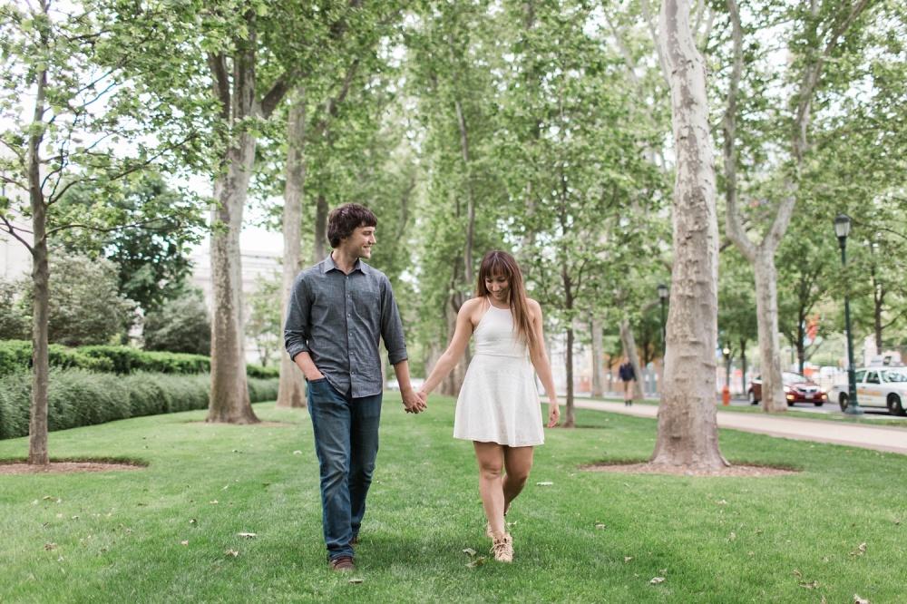 Philadelphia Museum of Art Engagement Session | Spring at the Barnes | Yolanda and Michael