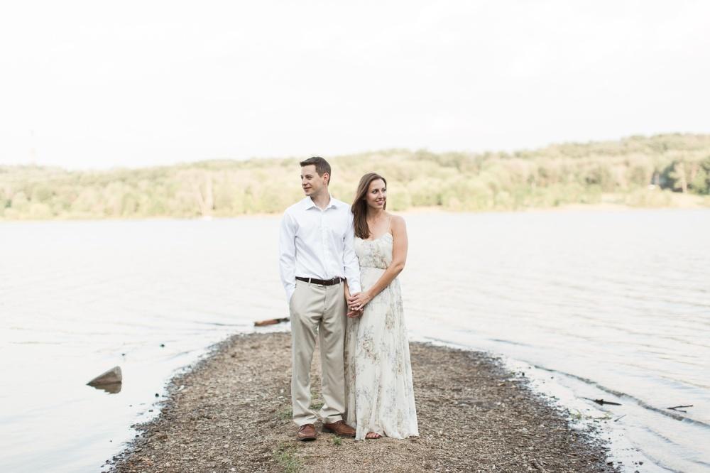 Lavender Farm Summer Sunset Engagement | Peace Valley Park Engagement Photographer | Victoria and Chris