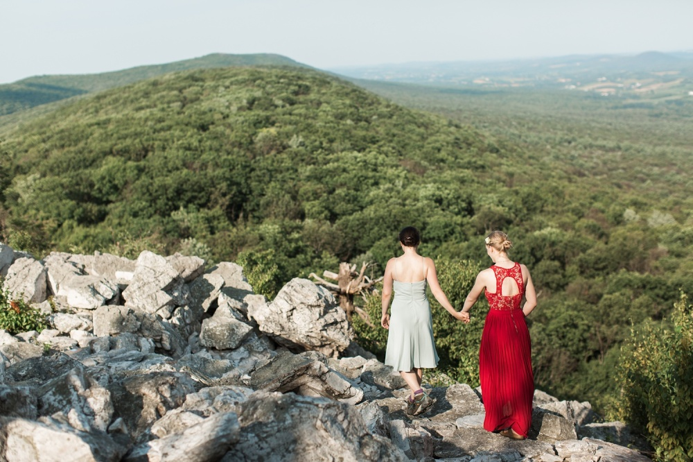 Hawk Mountain Sanctuary Vow Exchange | Private Vow Exchange Photographer|  Margaret and Annie