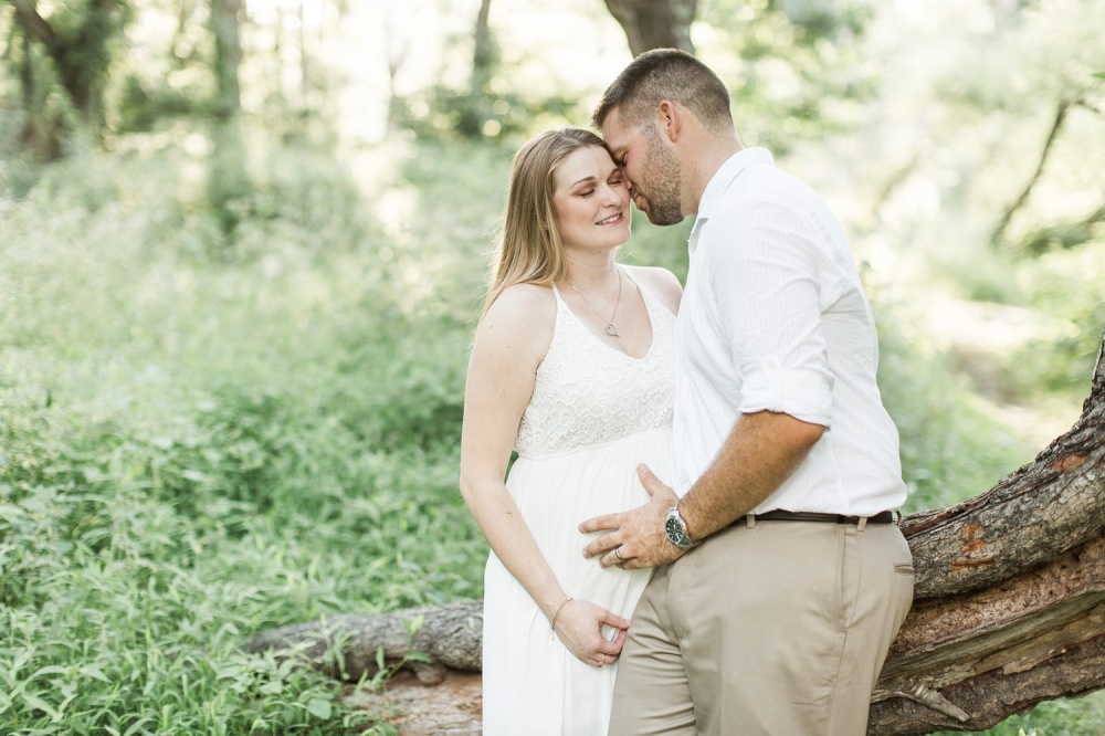 Ridley Creek State Park Maternity Photographer | Summer Sunset Maternity Session | Megan and Carl