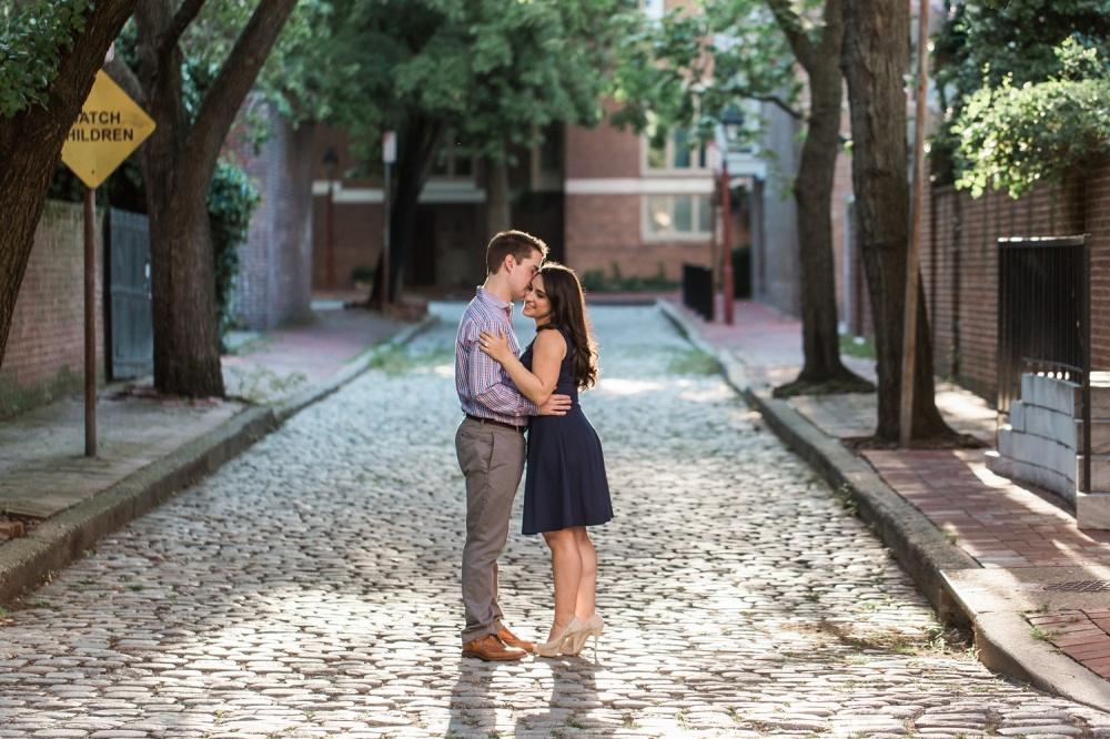 Old City Engagement Session | Philadelphia Wedding Photographer | Alli & Chris