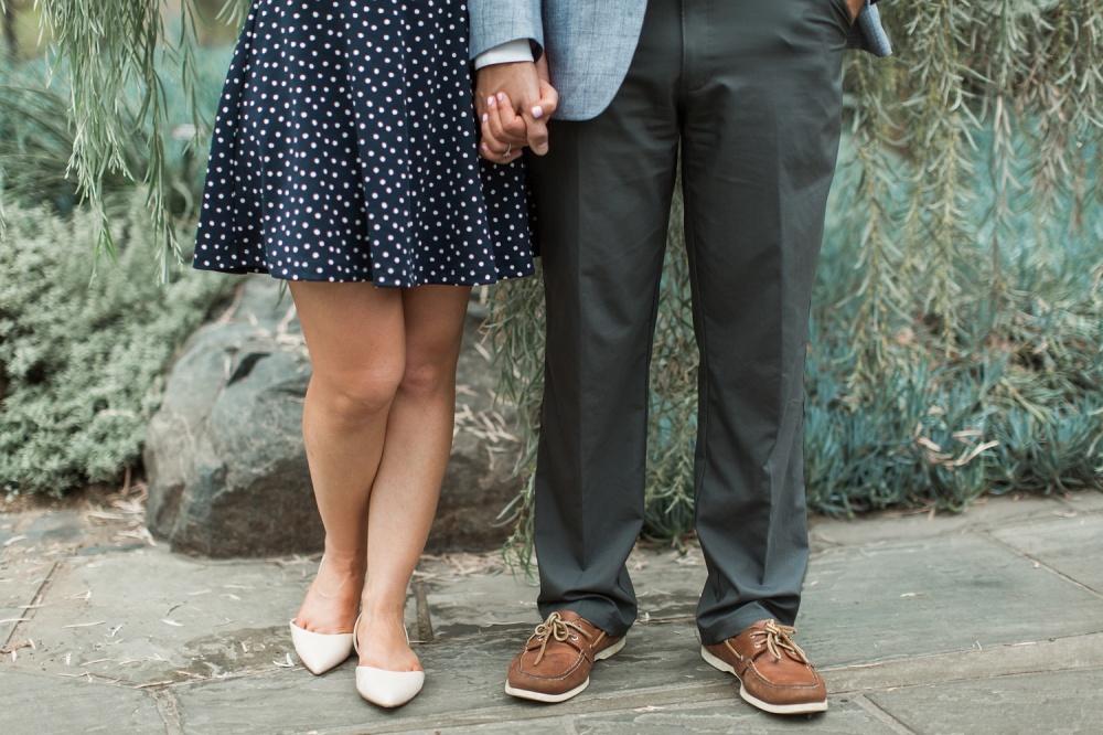 Rainy Summer Longwood Gardens Engagement Session | Philadelphia Wedding Photographer | Nan and Dan