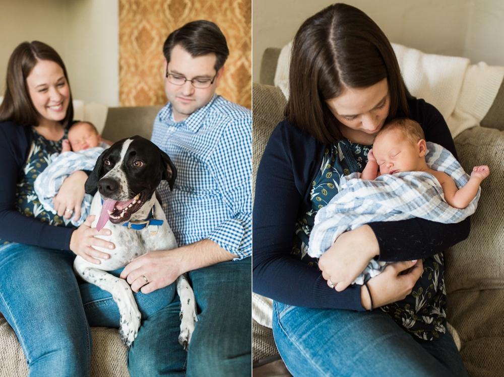 Chadds Ford Newborn Photographer | Lifestyle Session | Matthew