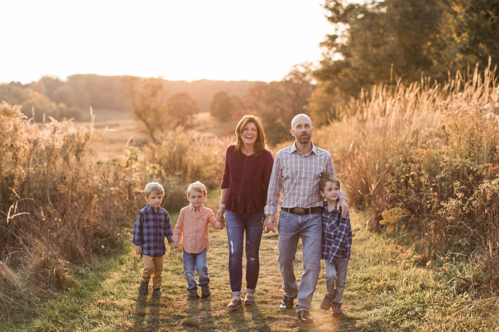 Longwood Gardens Fall Family Portrait Session | Kennett Square Lifestyle Photographer | W Family