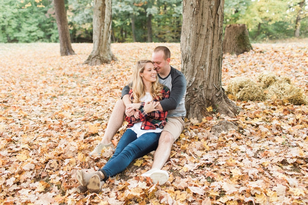 Apple Orchard Fall Engagement Session | Media PA Engagement Photographer | Kirsten and Kevin