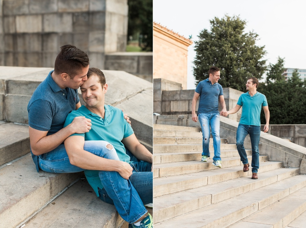 Philadelphia Museum of Art Engagement Session | Fall Engagement Photography | Paul and Ken