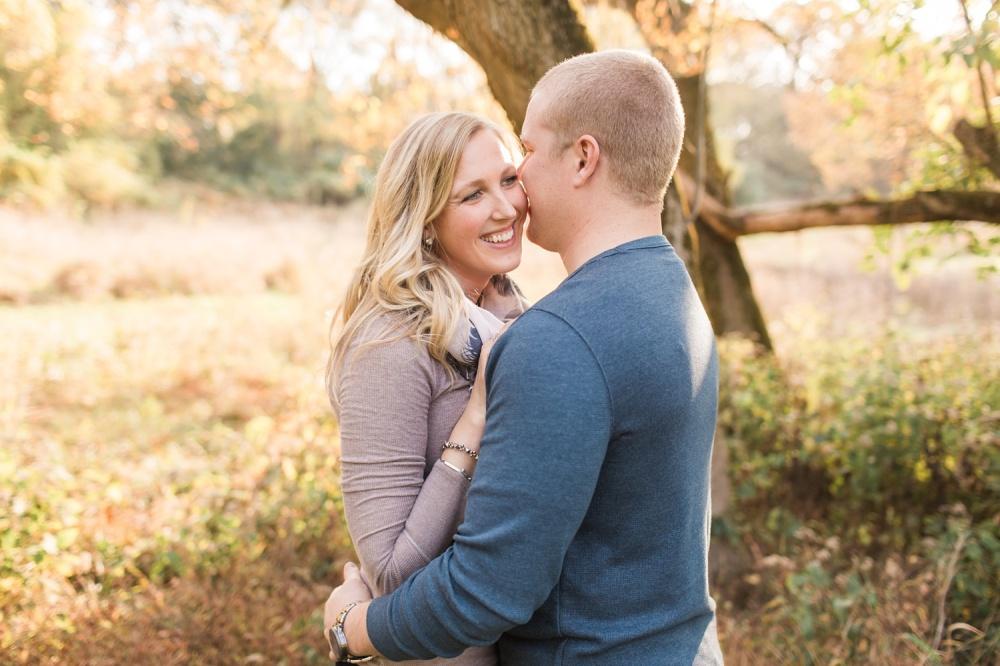 Lancaster PA Engagement Photographer | Fall Color Farm Land Engagement | Maegan and Marcus