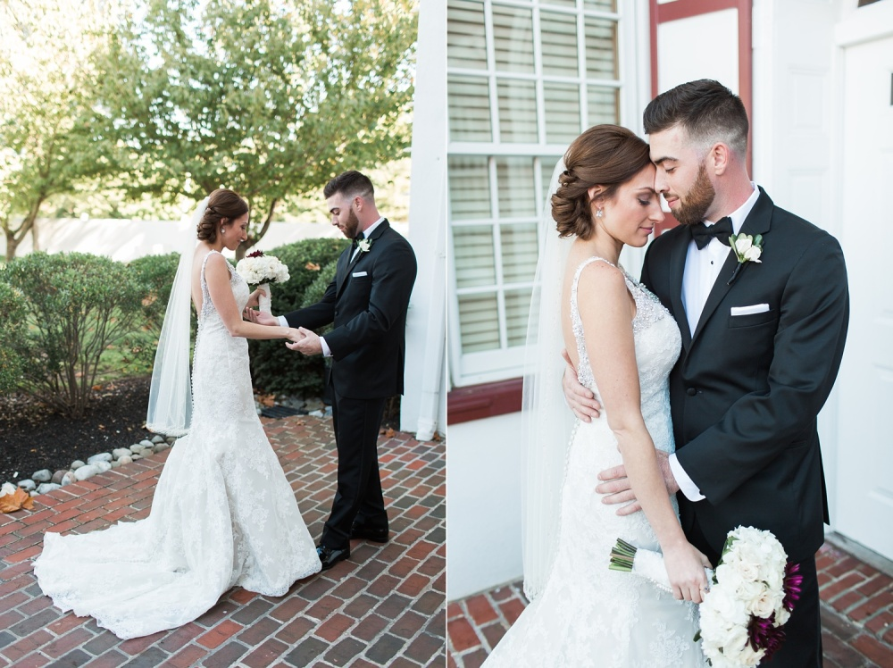 Cranberry and Cream Fall Wedding | Blue Bell Country Club Wedding Photography | Nicole and Mike