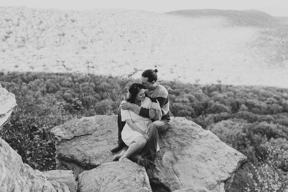Hawk Mountain Preserve Engagement Session | Adventure Engagement Photography | Heidi and David