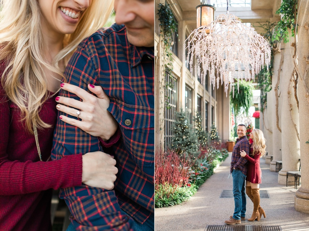 Winter at Longwood Gardens Engagement Session | Holiday Engagement | Leah and Chris