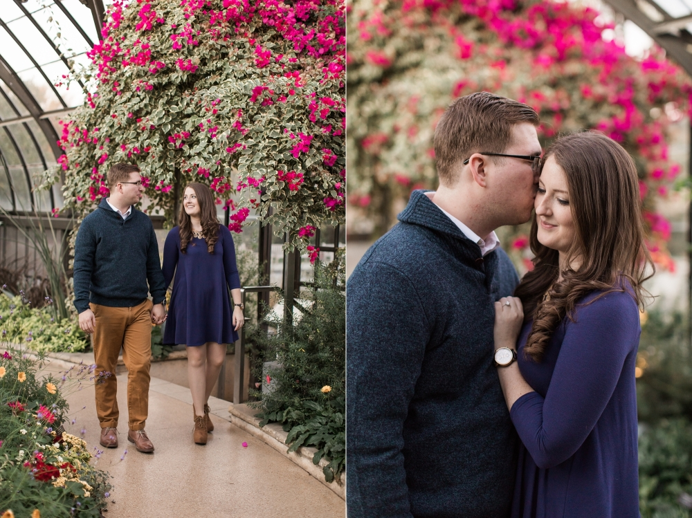 Longwood Gardens Engagement Session   Chadds Ford Wedding Photographer   Kathleen and Nick