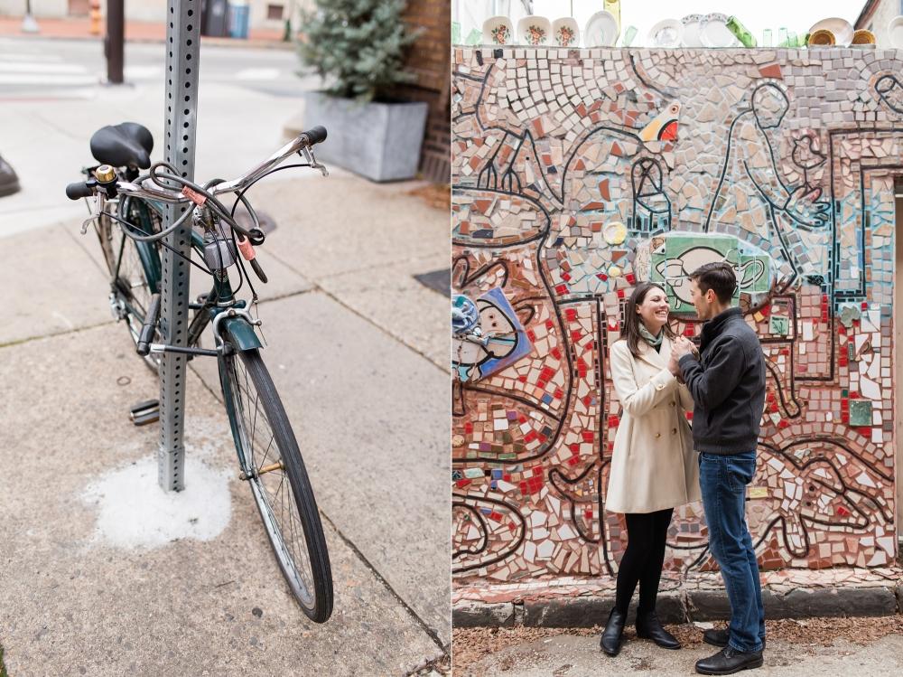 Philadelphia Old City Engagement Session Photographer | Washington Square Engagement | Megan and James